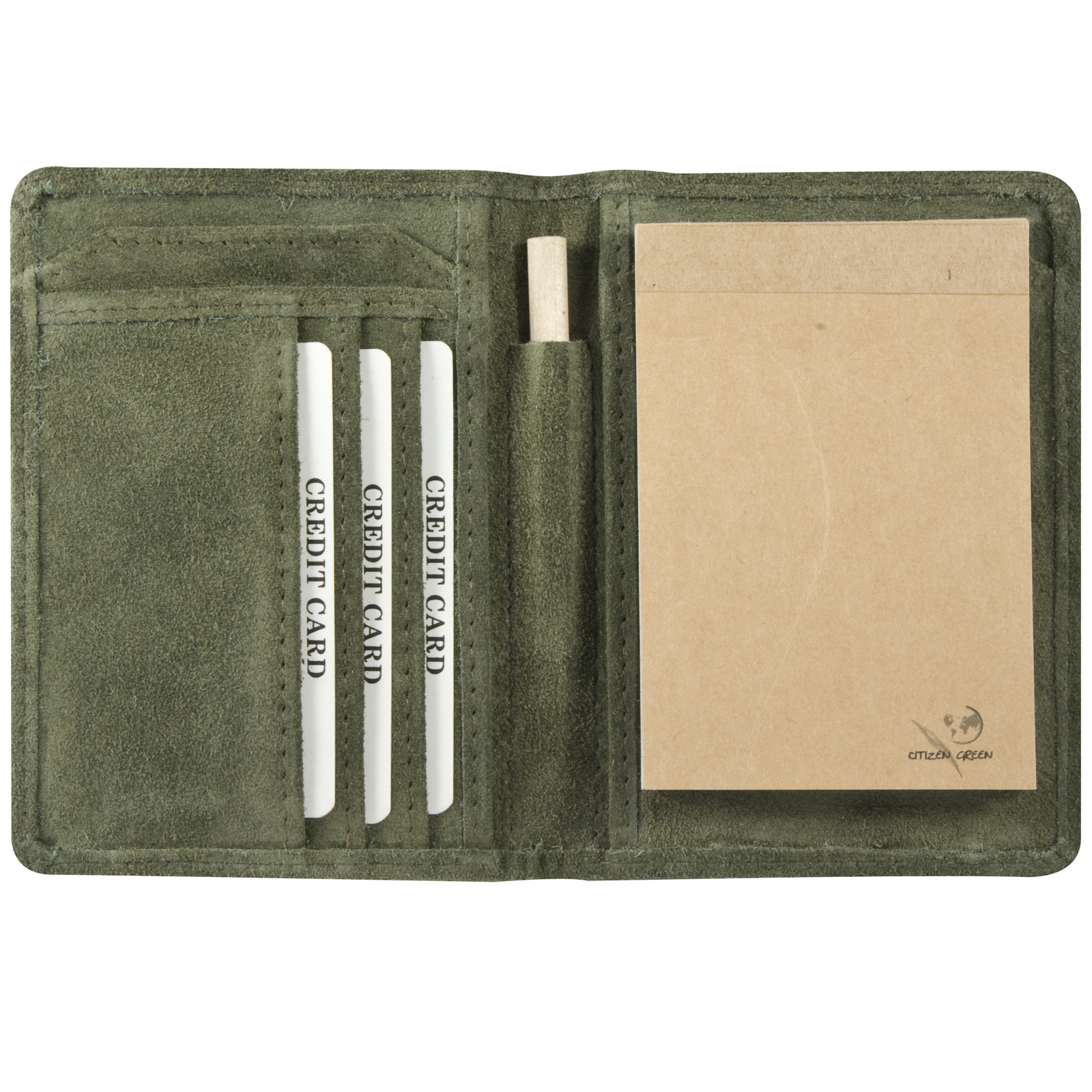 Bloc Notes Cuir Facon Nubuck Le Daily Conferencier Petit Format - Porte bloc note