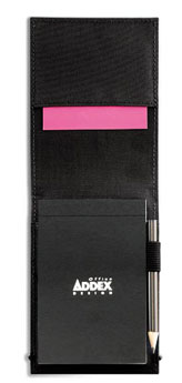 Carnet de notes en nylon 300D twill noir - Vue n° 1