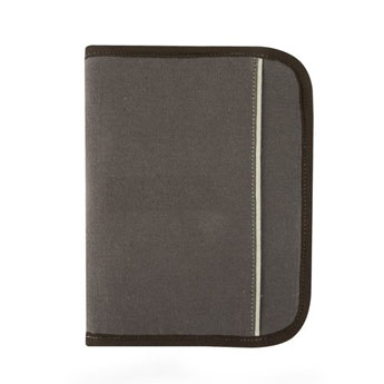 Conf rencier gris porte documents personnalis gris by for Porte vue a5