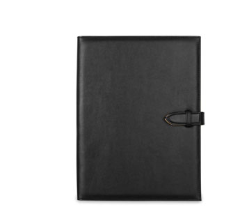 Porte documents A4 en PU souple noir -