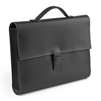 Porte-documents A4 en PVC grainé noir -