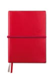 rouge - Carnet de notes A5 en PU souple grainé